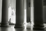 Janitors mop the Floor of the Lincoln Memorial, Washington, D.C., USA Photographic Print by Charles Cecil