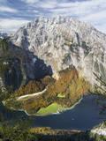 Mt. Watzmann and Lake Koenigsee, Berchtesgaden NP, Bavaria, Germany Stampa fotografica di Martin Zwick