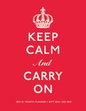 Keep Calm and Carry On - 2015 Polypro Agenda Calendars