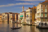 Setting sunlight on the buildings along the Grand Canal, Venice Italy Photographic Print by Brian Jannsen