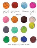Love Many Things - 2015 Polypro Agenda Calendars