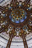 Detail of ornate dome over Printemps Gallerie in Paris, France Photographic Print by Brian Jannsen