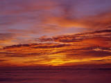 Sunset over the Pacific Ocean from Cape Perpetua, Oregon, USA Photographic Print by Steve Terrill