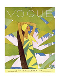 Vogue Cover - January 1927 Collectable Print by Eduardo Garcia Benito
