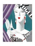 Vogue Cover - October 1926 Collectable Print by Eduardo Garcia Benito