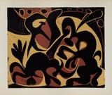 LC - Pique (noir et beige) Impressão colecionável por Pablo Picasso