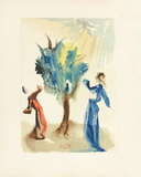 Divine Comedie, Purgatoire 24: L'Arbre Du Chatiment Collectable Print by Salvador Dalí