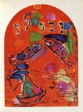 Jerusalem Windows : Zabulon Sammlerdrucke von Marc Chagall