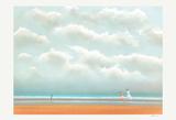 Promenade Sur La Plage Collectable Print by Pierre Doutreleau
