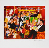 Champagne I Collectable Print by Guy Buffet