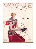 Vogue Cover - February 1924 Collectable Print by Eduardo Garcia Benito
