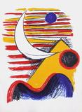 La Lune Et La Montagne Jaune Reproductions pour les collectionneurs par Alexander Calder