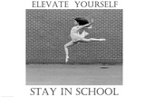 Elevate Yourself Stay In School Plastic Sign Wall Sign