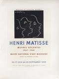Af 1949 - Musée National D'Art Moderne Reproductions pour les collectionneurs par Henri Matisse