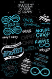 The Fault in our Stars -Typography Kunstdruck