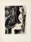 Verve - Femme et peintre II Impressão colecionável por Pablo Picasso