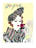Vogue Cover - October 1935 Collectable Print by Eduardo Garcia Benito