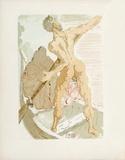 Divine Comedie, Enfer 03: Charon et le passage de l'Acheron Kerättävät vedokset tekijänä Salvador Dalí
