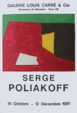 Expo Galerie Louis Carré Collectable Print by Serge Poliakoff