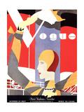 Vogue Cover - October 1927 Collectable Print by Eduardo Garcia Benito