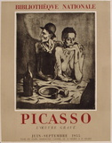 Expo 55 - Bibliothèque Nationale Sammlerdrucke von Pablo Picasso