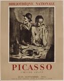 Expo 55 - Bibliothèque Nationale Lámina coleccionable por Pablo Picasso