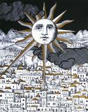 Sole a Geruslemme III Sérigraphie par Piero Fornasetti