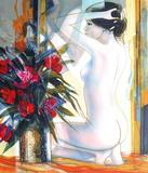 Nu au bouquet Collectable Print by Jean-Baptiste Valadie