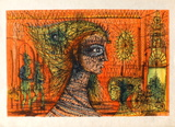 La Reine Masquée Samlartryck av Jean Carzou