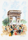 Paris, l'Arc de Triomphe Limited edition van Urbain Huchet