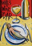 Willi's Wine Bar, 2004 Samlertryk af Jacques Loustal