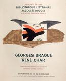 Expo 63 - Bibliothèque Jacques Doucet Reproductions pour les collectionneurs par Georges Braque