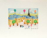 Promenade Dans Paris Collectable Print by Valérie Hermant