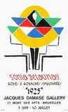 Expo 75 - Damase Gallery Bruxelles Collectable Print by Sonia Delaunay-Terk