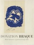 Expo 65 - Musée du Louvre Stampe da collezione di Georges Braque