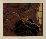LC - Femme regardant par la fenêtre Impressão colecionável por Pablo Picasso