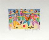Les Clowns Musiciens Collectable Print by Valérie Hermant