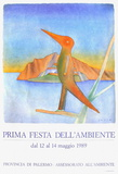 Expo 1989 - Prima Fiesta dell'ambiente Samlartryck av Jean Michel Folon