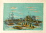 La cité fortifiée Samlingstryck av Jean Carzou