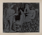 LC - Deux femmes Samletrykk av Pablo Picasso