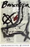 Copa del Mundo de Futbol 82 Collectable Print by Antoni Tapies