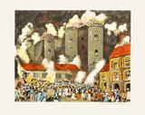 La prise de la Bastille Collectable Print by Guy Buffet