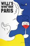 Willi's Wine Bar, 2005 Samlertryk af Jean-Charles de Castelbajac