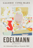 Expo 63 - Galerie Cinq-Mars Collectable Print by Jean Edelmann