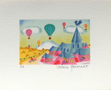 L'ÉgIIse Du Village Collectable Print by Valérie Hermant