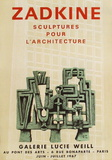 Expo 67 - Galerie Lucie Weill Collectable Print by Ossip Zadkine