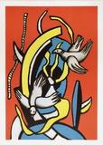 Les oiseaux Plakater av Fernand Leger