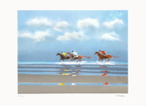 Premier galop à Deauville II Collectable Print by Pierre Doutreleau