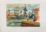 Petit port maltais Collectable Print by Marcel Mouly