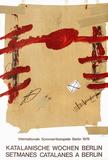 Expo 78 - Setmanes Catalanes a Berlin Impressão colecionável por Antoni Tapies